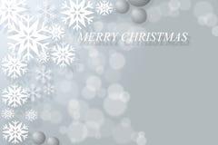 Fondo abstracto del bokeh de la Navidad con los copos de nieve Imágenes de archivo libres de regalías