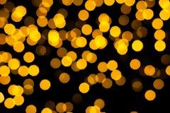 Fondo abstracto del bokeh de las luces ámbar Foto de archivo libre de regalías
