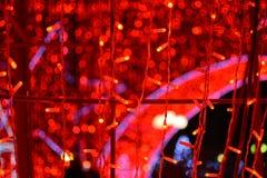 Fondo abstracto del bokeh de las luces de la Navidad Imagen de archivo libre de regalías