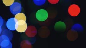 Fondo abstracto del bokeh ligero de oro de la Navidad Año Nuevo almacen de metraje de vídeo