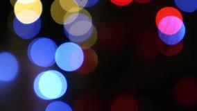 Fondo abstracto del bokeh ligero de oro de la Navidad Año Nuevo metrajes