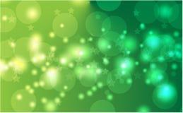 Fondo abstracto del bokeh Luces defocused festivas Vector el fondo festivo del oro del ejemplo para la tarjeta, aviador, invitaci stock de ilustración