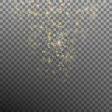 Fondo abstracto del bokeh del oro Vector del EPS 10 Fotografía de archivo