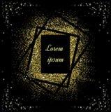 Fondo abstracto del brillo del oro Chispas brillantes para el día de fiesta VE fotografía de archivo libre de regalías
