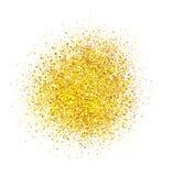 Fondo abstracto del brillo del oro Chispas brillantes para la tarjeta imagenes de archivo