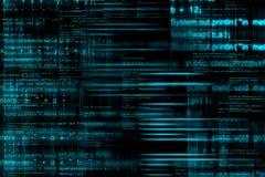 Fondo abstracto del código de ordenador Fotografía de archivo