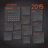 Fondo abstracto del calendario 2015 Imagenes de archivo