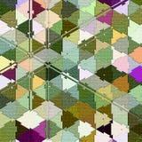 Fondo abstracto del camuflaje de triángulos coloreados Imagen de archivo