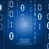 Fondo abstracto del ciberespacio de la matriz del vector Imagenes de archivo