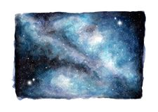 Fondo abstracto del cielo de la galaxia de la acuarela