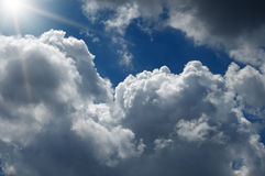 Fondo abstracto del cloudscape Imagen de archivo