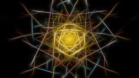 Fondo abstracto del color con efectos del fractal Serie de seda de la simetría del fractal stock de ilustración