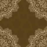 Fondo abstracto del color de Brown uno con Lacy Corner. stock de ilustración