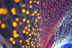 Fondo abstracto del color de la electricidad Fotografía de archivo