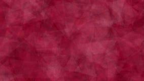 Fondo abstracto del color rojo de los triángulos móviles Hecho adentro después de efectos almacen de metraje de vídeo
