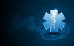 Fondo abstracto del concepto de diseño de la atención sanitaria del hospital de los servicios médicos de la emergencia Fotografía de archivo
