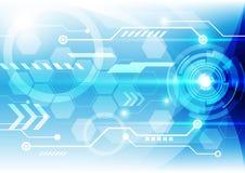 Fondo abstracto del concepto de la tecnología, ejemplo del vector Fotografía de archivo