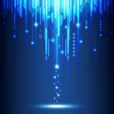 Fondo abstracto del concepto de la tecnología, ejemplo del vector Imágenes de archivo libres de regalías