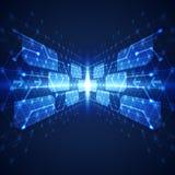 Fondo abstracto del concepto de la tecnología, ejemplo del vector Fotografía de archivo libre de regalías