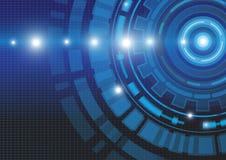 Fondo abstracto del concepto de la tecnología, ejemplo del vector Foto de archivo