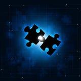 Fondo abstracto del concepto del rompecabezas Imagenes de archivo