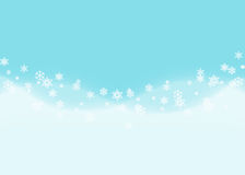 Fondo abstracto del copo de nieve con la onda de deriva azul de la nieve Fotos de archivo