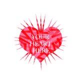 Fondo abstracto del corazón Foto de archivo libre de regalías
