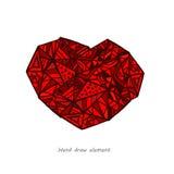 Fondo abstracto del corazón Fotos de archivo