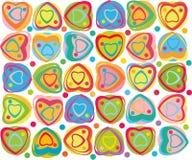 Fondo abstracto del corazón. ilustración del vector