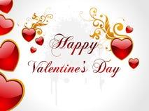 Fondo abstracto del corazón de la tarjeta del día de San Valentín Fotografía de archivo libre de regalías