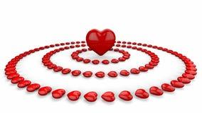 Fondo abstracto del corazón del amor Fotos de archivo libres de regalías