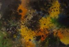 Fondo abstracto del cosmos de la acuarela, ninguna explosión grande de las estrellas Imagenes de archivo