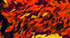 Fondo abstracto del cubismo Fotografía de archivo
