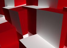 Fondo abstracto del cubo Foto de archivo libre de regalías