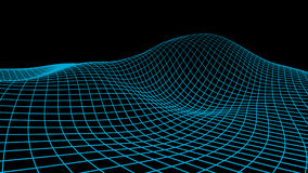 Fondo abstracto del Cyberspace Ejemplo de la rejilla del paisaje wireframe de la tecnología 3d Malla de Digitaces para las bander libre illustration