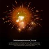 Fondo abstracto del día de fiesta con el fuego artificial y Foto de archivo libre de regalías