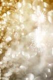 Fondo abstracto del día de fiesta con los fuegos artificiales Fotografía de archivo libre de regalías
