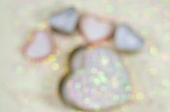 Fondo abstracto del día de tarjeta del día de San Valentín con los corazones Fotos de archivo