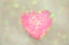 Fondo abstracto del día de tarjeta del día de San Valentín con los corazones Foto de archivo