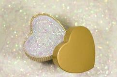 Fondo abstracto del día de tarjeta del día de San Valentín con los corazones Imágenes de archivo libres de regalías