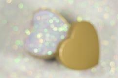 Fondo abstracto del día de tarjeta del día de San Valentín con los corazones Imagen de archivo