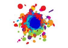 Fondo abstracto del diseño del color de la salpicadura Diseño de la ilustración Fotografía de archivo libre de regalías