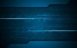 Fondo abstracto del diseño de concepto de la innovación de la tecnología del modelo de la textura del circuito digital ilustración del vector