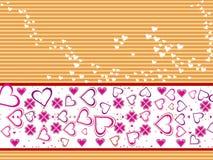 Fondo abstracto del diseño del día de tarjeta del día de San Valentín Fotografía de archivo