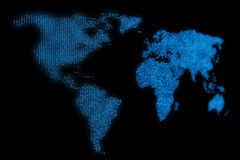 Fondo abstracto del diseño del mapa del mundo ilustración del vector