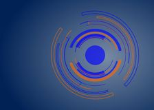 Fondo abstracto del diseño del vector de la forma del círculo de la tecnología stock de ilustración