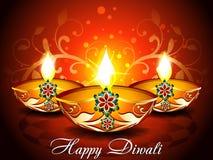 Fondo abstracto del diwali con floral