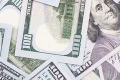 Fondo abstracto del efectivo del dinero de 100 dólares de EE. UU. Fotos de archivo