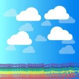 Fondo abstracto del ejemplo del vector de la nube y del cielo azul libre illustration