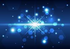 Fondo abstracto del espacio de la tecnología, ejemplo del vector Foto de archivo